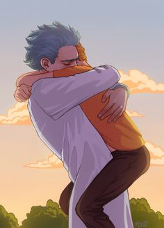 - bye, Morty. Art by http://kyoshich.tumblr.com/ Don't make me feel these feels that I'm feeling ;-;