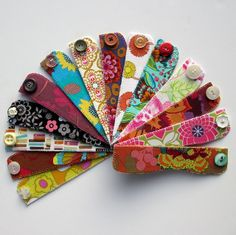 Bookmarks With Vintage Buttons, via Flickr. Jayne Marie TN