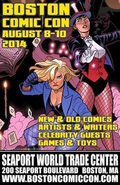 @BostonComicCon is Aug. 8-10! For more on Boston Comic Con visit www.bostoncomiccon.com