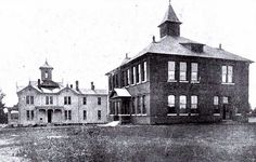 Collierville High School ca 1905, Collierville, Tennessee by Peer Into The Past, via Flickr
