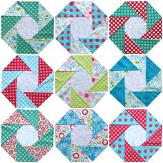 From triangles to octagons to squares! Learn how to sew 3 intricate block designs using a SIMPLE piecing technique