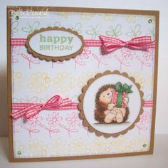 Hi Everyone and welcome to Penny Black Saturday thanks to all those who entered last week's Starburst Challenge.you sure were certai. Penny Black Karten, Penny Black Cards, Penny Black Stamps, Birthday Presents For Girls, Birthday Cards For Boyfriend, Watercolor Cards, Watercolor Ideas, Animal Cards, Kids Cards