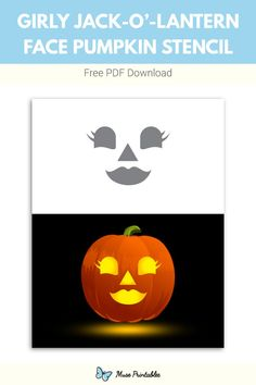 Printable Girly Jack O Lantern Face Pumpkin Stencil Halloween Labels, Halloween 2015, Spooky Halloween, Vintage Halloween, Halloween Pumpkins, Halloween Crafts, Vintage Witch, Halloween Halloween, Halloween Makeup