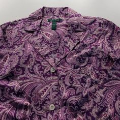 Ralph Lauren Night Gown Beautiful and comfy Ralph Lauren button front Pajama night shirt. Ralph Lauren initials on pocket. Buttons down front. NEW Lauren Ralph Lauren Intimates & Sleepwear Pajamas