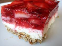 Strawberry Pretzel Dessert  Judy is this the same as yours? Have been looking since you talked about it.