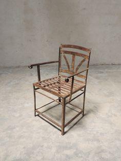 Metal garden chair from Pondicherry..