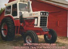 1974 International 1066 5 Millionth Tractor Produced by IHC