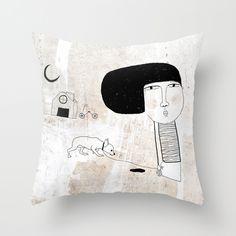 pillow cover  http://society6.com/yaelfran/Just-walking-with-pet_Pillow