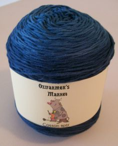 Gradient Dyed 4ply/Fingering weight cotton. 100gm- Baltic by OzifarmersMarket on Etsy