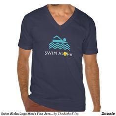 Swim Aloha Men's Fine Jersey V-Neck - Dark Tshirt