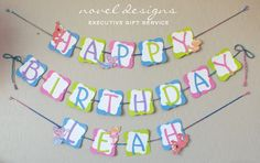 Custom Birthday Banners #partydecor #eventstylist #banners #elmo #abby #zoey #sesamestreet #noveldesigns #lasvegas