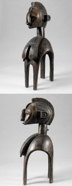 Africa | Shoulder helmet mask from the Baga people of Guinea | Wood | ca. early to mid 1900s