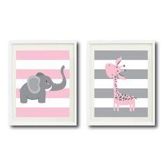 Safari Kindergarten Kunstdruck zwei 11 x von GatheredNestDesigns