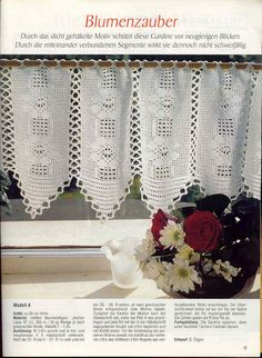 Edivana Croche: Cortina com flores