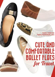 Most Comfortable Ballet Flats for Travel 2020 (They're Cute, too) Most Comfortable Ballet Flats, Travel Shoes, Winter Shoes, Ankle Booties, Espadrilles, Toms, Shoe Bag, Stylish, Travel Capsule