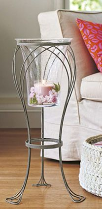 Garden Sanctuary Floor Stand and Glass Hurricane! www.partylite.biz/cindim To place your order
