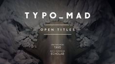 TYPOMAD OPEN TITLES. TypoMad is an event about typography held this year in Madrid . They trusted us to produce the Opening Credits. Our pur...