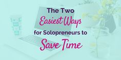 """There comes a point in every savvy solopreneur's career where they're like, """"Oh, shit."""" You see… They've finally implemented all the lifehacks and workhacks and think they can't get any more productive. Are you there yet? You're a master at efficiency. You've figured out your ideal energy management, batch your …"""
