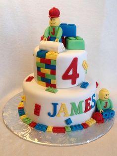 Lego Men Birthday Cake