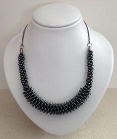 Hematite Kumihimo Braided Necklace by JewelleryByJanine on Etsy, £40.00
