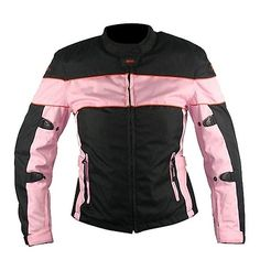 <b>Xelement CF462 Women's Black/Pink Tri-Tex Fabric Motorcycle Jacket with Advanced Level-3 Armor</b><br><br>Only available here at the webs # 1 online leather store!