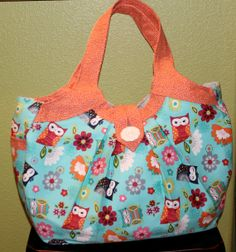 Owl Semper Fun Bag  Diaper Bag/Travel Bag/ Gym by SemperFabDesigns, $60.00