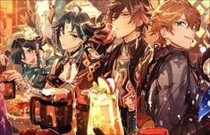 """:ヵ: on Twitter: """"🍻… """" Albedo, Manga, Aesthetic Anime, Game Art, Anime Guys, Anime Characters, Otaku, Drawings, Artist"""