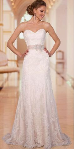 pretty wedding dress, lace wedding dress,I want it now.: