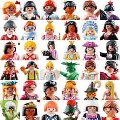 I see 7 of my own Playmobil people. Playmobil Toys, Toy Display, Little Boy And Girl, Heart For Kids, Niece And Nephew, Through The Looking Glass, Toys Photography, Old Toys, Diy For Kids