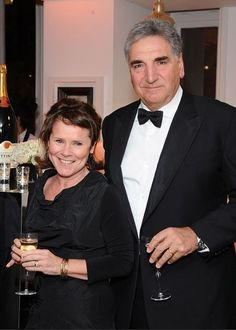 Jim Carter and Imelda Staunton at the BAFTA Film Gala Dinner For 'Give Something Back', 5th February 2015