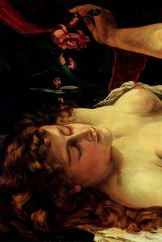Gustave Courbet Venus and Psyche, (detail) Texture Painting, Painting & Drawing, Art Français, Gustave Courbet, French Paintings, Human Soul, French Art, Famous Artists, Impressionist