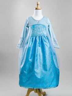 This Elsa-Inspired dress is so comfortable AND machine washable!
