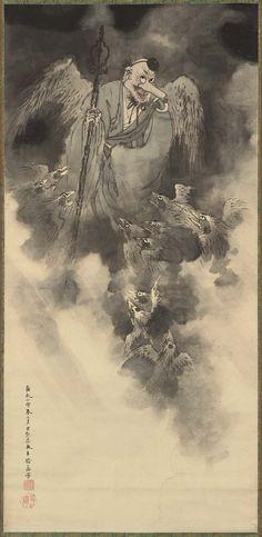 Tengu, 1854 by Ohara Donshu