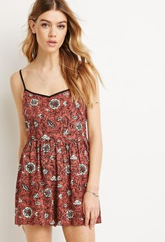 Forever21 Floral Print Cami Romper Found on my new favorite app Dote Shopping #DoteApp #Shopping