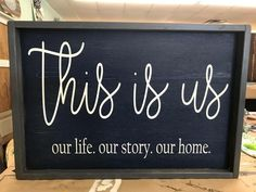 Items similar to This is us wood sign - This is us quote - This is us -This is us Sign -Farmhouse Decor -Rustic Wall Decor -Family Name Sign -This is us Sign on Etsy Rustic Wood Signs, Rustic Wall Decor, Rustic Walls, Rustic Farmhouse Decor, Farmhouse Signs, Wooden Signs, Be Our Guest Sign, Scrabble Wall Art, Personalized Housewarming Gifts