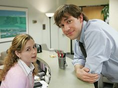 Pam and Jim from The Office.
