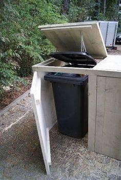 Wood Storage Bins Diy Cabinets 27 New Ideas Wood Storage, Storage Bins, Outdoor Projects, Garden Projects, Bin Shed, Patio Grill, Garden Planning, Outdoor Storage, Garden Furniture
