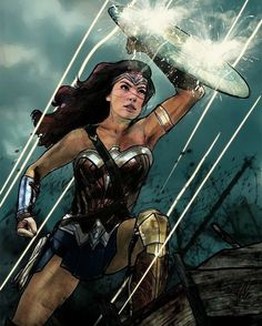 Wonder Woman in No Man's Land. Beautiful artwork!