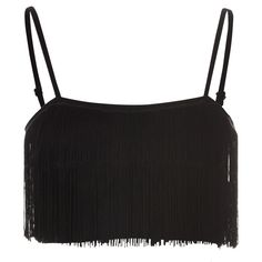 Glamorous women's black fringe crop top. Features spaghetti straps, fringe detailing and cropped length. Regular fit.Length: 16.5cm100% Polyester