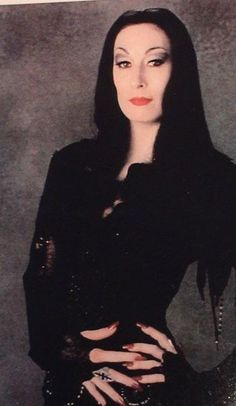 Anjelica Huston as Morticia Addams is everything ❤ Morticia Addams, Adams Family Morticia, Die Addams Family, The New Yorker, Anjelica Huston, Lady Macbeth, Goth Beauty, Fantasy Movies, Post Punk