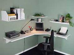 corner wall shelf desk