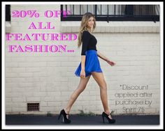 20% off boho chic fashion! Discount applied after purchase - reflected in charge. Shop >> http://www.spirit75.com/category/featured.htm