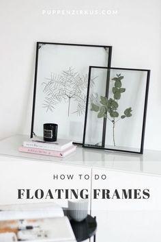 Floating Frame Herbarium // Botanic für das Wohnzimmer