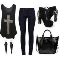 A New Rocker Outfit Is Up On The Blog Now. You Can Check It Out At: http://beautifulfreaks17.blogspot.com/