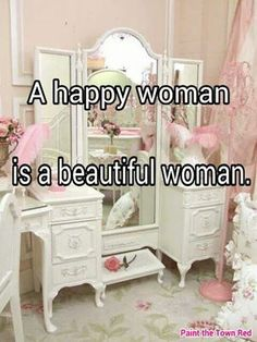 Wish the writing wasn't there. That's a gorgeous vanity!