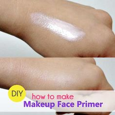 How to Make Your Own Makeup Primer Beauty and MakeUp Tips Make Your Own Makeup, Make Makeup, Diy Primer Makeup, Diy Beauty Makeup, Budget Planer, Perfume, Homemade Beauty Products, Facial Products, Diy Products