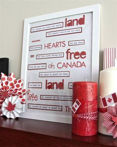 Canada Day is a wonderful opportunity to show your hometown spirit with red and white patriotic home decor items and crafts Canada Day Party, Canada Holiday, Happy Canada Day, Canada 150, Remembrance Day, Cata, White Houses, White Decor, Red And White