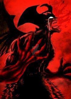 Devil Cry by on DeviantArt Dark Fantasy Art, Dark Art, Dark Anime Art, Anime Demon, Manga Anime, Arte Dark Souls, Satanic Art, Crying Man, Devilman Crybaby