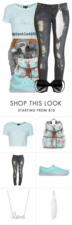 """""""Hello!"""" by spoiledg16 ❤ liked on Polyvore featuring Topshop, Candie's, Boohoo, Vans, Sydney Evan, Marc Jacobs and H&M"""