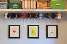 more re-use of steel cans as yarn storage